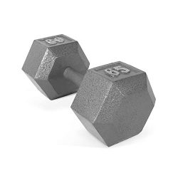 CAP Barbell Solid Hex Single Dumbbells (65-Pound)
