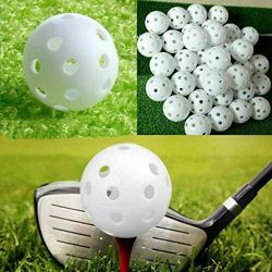 ☀ Dergo ☀ hollow training ball,Plastic Hollow Golf Practice Ball Empty Hole Hole Ball Indoor Exe ...
