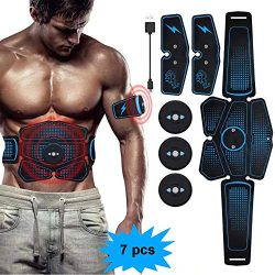 eAnjoy EMS Pads, ABS Stimulator Muscle Toner, Abdominal Toning Belt Muscle Trainer, Portable Fit ...