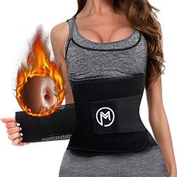 MERMAID'S MYSTERY Waist Trimmer Trainer Belt for Women Men Weight Loss Premium Neoprene Sp ...