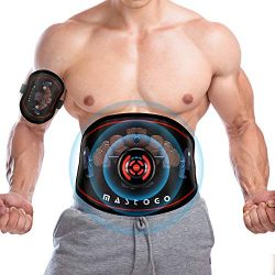 MASTOGO Electronic Abs Toning Training Belt – 9 Modes Pulse Abdominal Stomach Machine EMS  ...