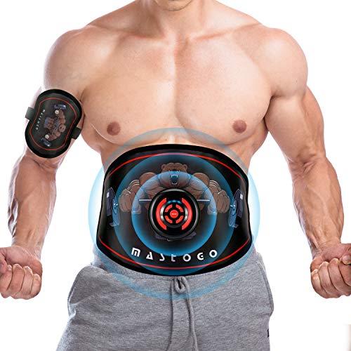 MASTOGO Electronic Abs Toning Training Belt – 9 Modes Pulse Abdominal Stomach Machine EMS  ...