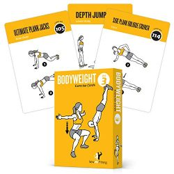 Exercise Cards BODYWEIGHT – Home Gym Workout Personal Trainer Fitness Program Tones Core A ...