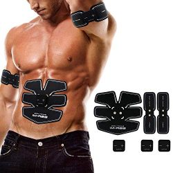 Careboo Abdominal Muscle Trainer for Muscle Growth and Recovery Portable Toning Belt for Men and ...