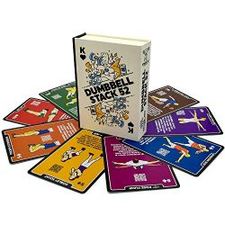 Stack 52 Dumbbell Exercise Cards. Dumbbell Workout Playing Card Game. Video Instructions Include ...