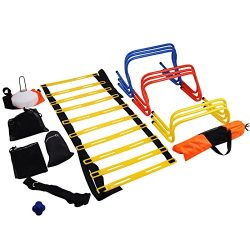 Mophorn Ultimate Multi Speed Agility Kit Combo Set Agility Speed Training Kit Exercise and Fitne ...