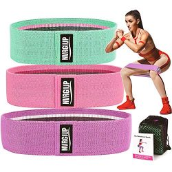 NVRGIUP Exercise Resistance Bands for Legs and Butt, Upgrade Thicken Anti-slip & Roll Workou ...