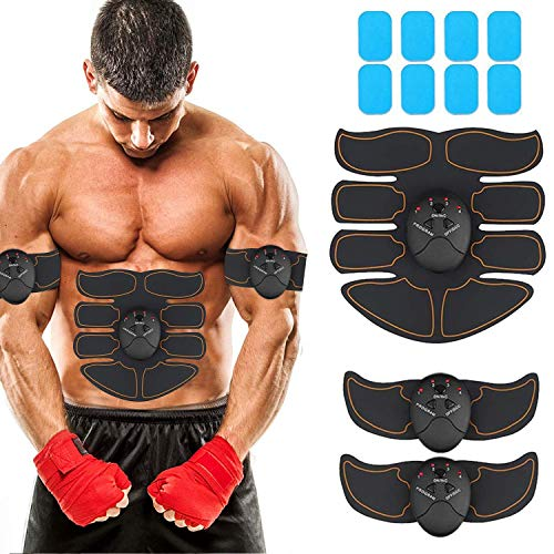 JoJoMooN Muscle Toner Abdominal Toning Belt EMS ABS Toner Body Muscle Trainer Wireless Portable  ...