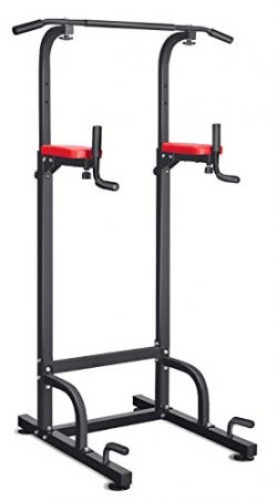 RELIFE REBUILD YOUR LIFE Power Tower Dip Pull Up Station Tower for Home Gym Strength Training Fi ...