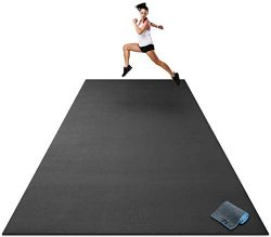 Premium Extra Large Exercise Mat – 12′ x 6′ x 1/4″ Ultra Durable, Non-Sl ...