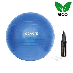 ATIVAFIT Pink Exercise Ball 21.7″ Anti Burst Resistant Yoga Ball for Pregnant Women Gym, H ...