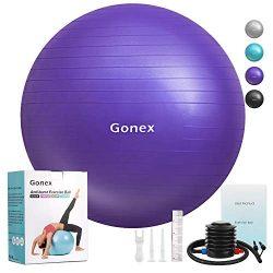Gonex Exercise Workout Ball, 55cm 65cm 75cm Anti-Burst & Non-Slip Stability Balance Ball for ...