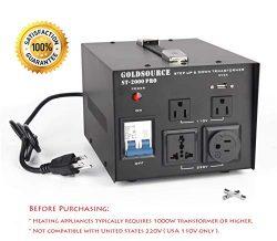 2000W Auto Step Up & Step Down Voltage Transformer Converter, ST-Pro Series Heavy-Duty AC 11 ...