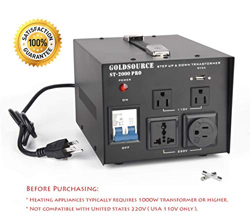 2000W Auto Step Up & Step Down Voltage Transformer Converter, ST-Pro Series Heavy-Duty AC 11 ...