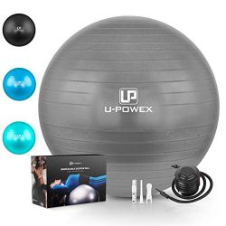 U-POWEX Professional Exercise Ball (45-85cm) – Professional Grade & Anti Burst Exercis ...