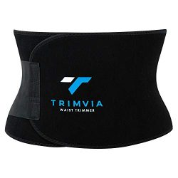 TRIMVIA Waist Trimmer for Men and Women, Waist Trainer, Abdominal Sweat Belt, Premium, Stomach W ...