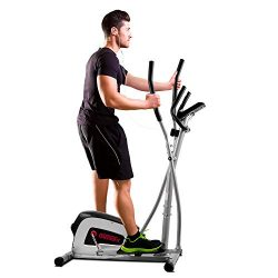 ONETWOFIT Home Elliptical Cross Trainer, 8-Level Magnetic Resistance,13-inch Stride Length, 12-l ...