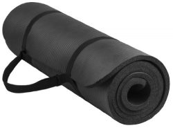BalanceFrom BFGY-AP6BLK Go Yoga All Purpose Anti-Tear Exercise Yoga Mat with Carrying Strap, Black