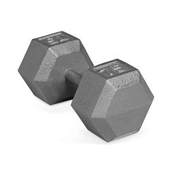 CAP Barbell Solid Hex Single Dumbbells (75-Pound)