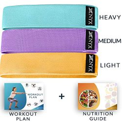 NYX Fitness Booty Bands for Women | Fabric Resistance Bands for Legs and Butt Exercise | Set of  ...