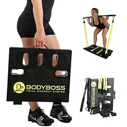 BodyBoss 2.0 by 1loop – Full Portable Home Gym Workout Package + Resistance Bands –  ...