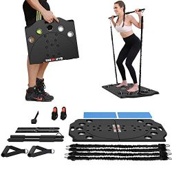 BARWING Portable Home Gym Full Body Workouts Equipment Resistance Workout Set for Home, Office o ...
