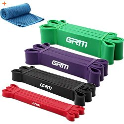 GRM Resistance Bands Exercise Workout Bands Pull up Assist Bands Stretch Heavy Duty Bands for Bo ...