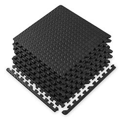 Gaiam Essentials Interlocking Exercise Mat – Square Puzzle Foam Tiles Home Gym Fitness Mat ...