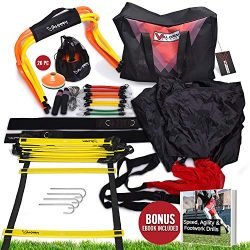 Speed & Agility Training Equipment Kit – Basketball, Baseball, Soccer, All Sports R ...