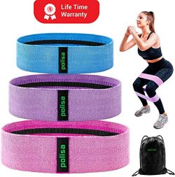 Polisa Resistance Exercise Bands for Legs and Butt | Workout Bands Booty Bands Glute Bands Loop  ...