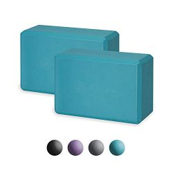 Gaiam Essentials Yoga Block (Set of 2) – Supportive Latex-Free EVA Foam Soft Non-Slip Surf ...