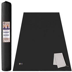CAMBIVO Large Yoga Mat, Extra Thick (6′ x 4′ x 8 mm) Exercise Workout Mat for Home G ...
