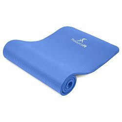 "ProsourceFit Extra Thick Yoga and Pilates Mat ½"" (13mm) or 1″ (25mm), 71-inch Long H ..."