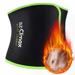 SZ-Climax Waist Trimmer Trainer Belt, Sweat Wrap Exercise Belt for Stomach Weight Loss Women Men ...