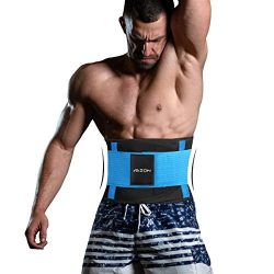 ABZON Waist Trimmer Weight Loss Sweat Sauna Belt Fitness Fat Burner for Men and Women Abdominal  ...