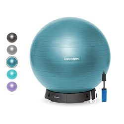 Retrospec Luna Exercise Ball, Base & Pump with Anti-Burst Material, Perfect for Balance, Sta ...