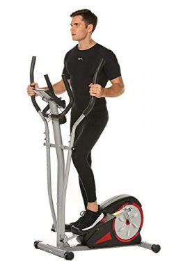 FUNMILY Elliptical Machine with LCD Monitor, Pulse Rate Grips and Tablet Holder, Magnetic Smooth ...