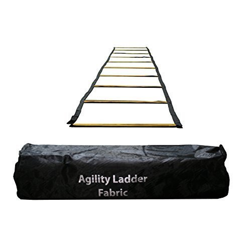 Uber Soccer Speed and Agility Training Ladder – Fabric Metal Rung – 30 Feet