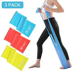 AONFIT Exercise Bands for Legs and Butt 3Pack, 3 Levels Weight TPE Elastic Bands for Upper & ...