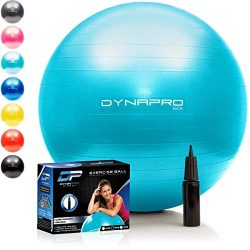 DYNAPRO Exercise Ball – Extra Thick Eco-Friendly & Anti-Burst Material Supports Over 2 ...