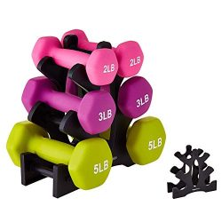 IMFUN Dumbbell Rack, Compact Dumbbell Bracket Free Weight Durable Barbell Rack Hand Weight Stand ...