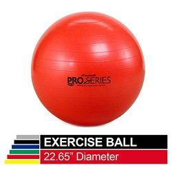 TheraBand Exercise Ball, Professional Series Stability Ball with 55 cm Diameter for Athletes 5&# ...