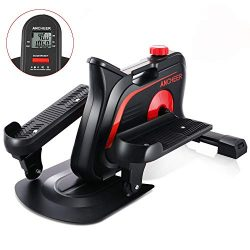 ANCHEER Mini Elliptical Machine, Compact Fitness Exercise Trainer with Adjustable Resistance &am ...