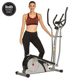 ANCHEER Elliptical Machine, Elliptical Exercise Training Machine for Home Use with Pulse Rate Gr ...