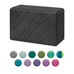 Gaiam Yoga Block – Supportive Latex-Free EVA Foam Soft Non-Slip Surface for Yoga, Pilates, ...
