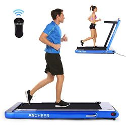 ANCHEER Folding Treadmill, Under Desk Smart Electric Treadmill with Remote Control and Bluetooth ...