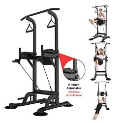 Homefami Dip Station Chin Up Bar Pull Push Home Gym Fitness Equipment Strength Training Workout  ...