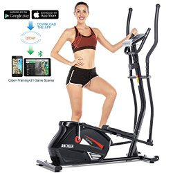 ANCHEER Elliptical Machine Elliptical Trainer Exercise Machine Magnetic Smooth Quiet Driven with ...