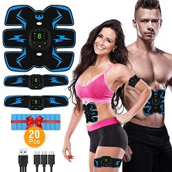 HODAY Abs Stimulator Muscle Toner Rechargeable Muscle Trainer for Men Women Abdominal Work Out A ...