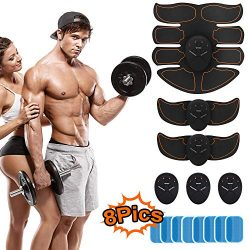 BBOUTEY ABS Abdominal Muscle Trainer Portable Muscle Toner EMS AB Abdomen Toning Belt for Men Wo ...